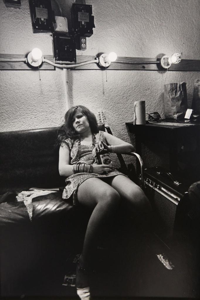 Janis Joplin, backstage at the Winterland, 1968