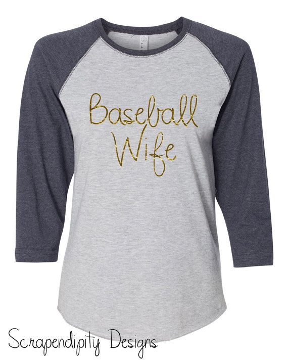 Baseball Wife Shirt Womens Baseball Shirt / by Scrapendipitees