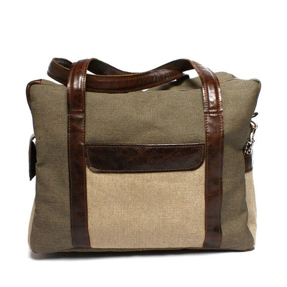 Men's leather canvas bag $140.00 & SALE 20% #handmade #gift #macbook #ipad #bag #leather #canvas #design #etsy #craft #handbag #style #blackfriday #sale