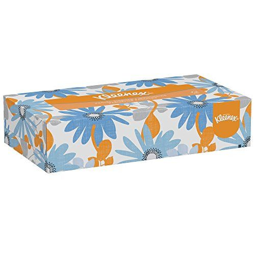 Kleenex Facial Tissue (03076), Flat Tissue Boxes, 12 Boxes / Convenience Case, 125 Tissues / Box