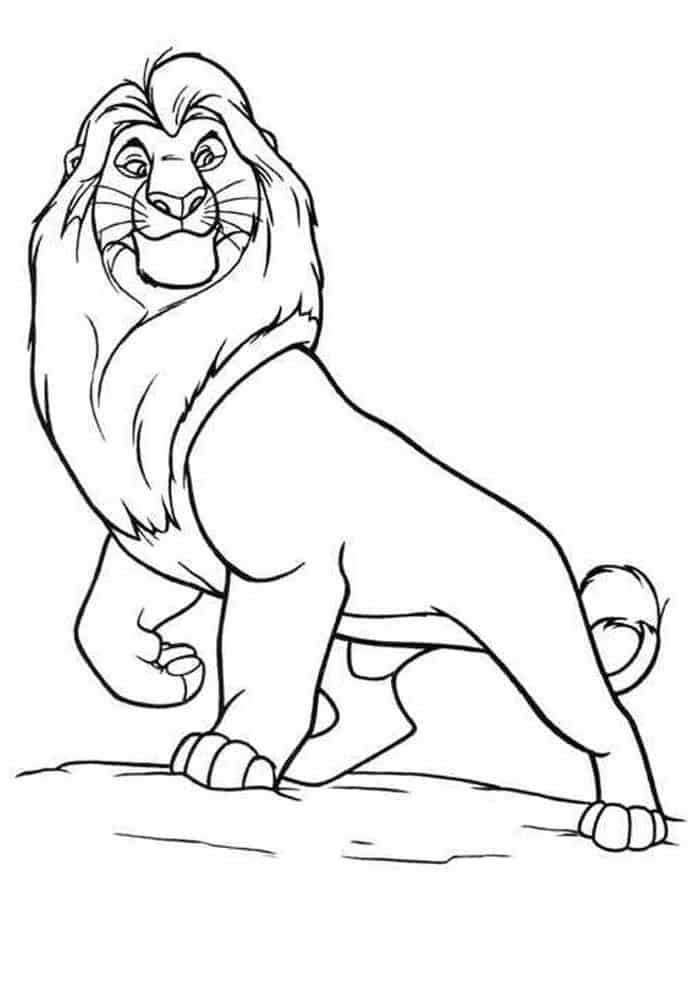 Cartoon Lion King Coloring Pages For Kids In 2020 Lion King