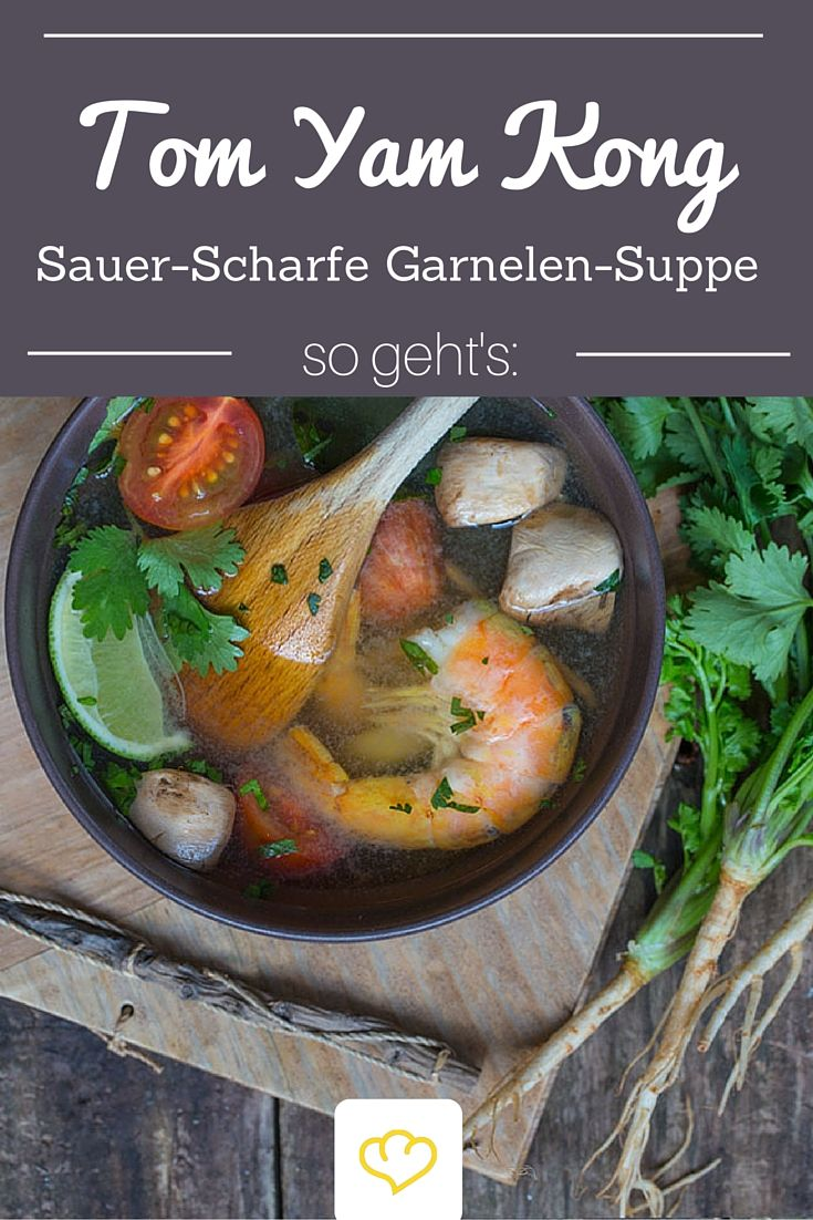 Tom Yam Kong ist auch als die thailändische Nationalsuppe bekannt. Gerade in den kalten Wintermonaten ist diese Suppe ein Genuss!