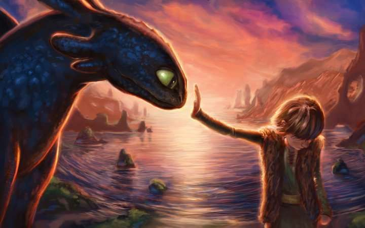 "This would be from the sequel, ""How to Train Your Dragon to Talk to the Hand."" But in all seriousness, such a cute picture!"