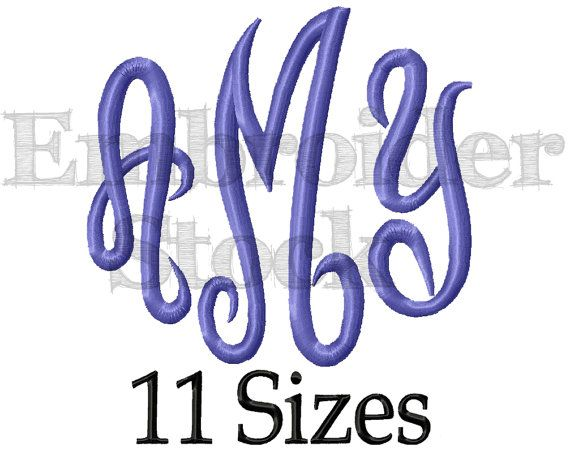 Master Circle Font Full Alphabet Font Monogram Font Machine Embroidery Font Monogram Design Machine Embroidery Design - 11 Sizes