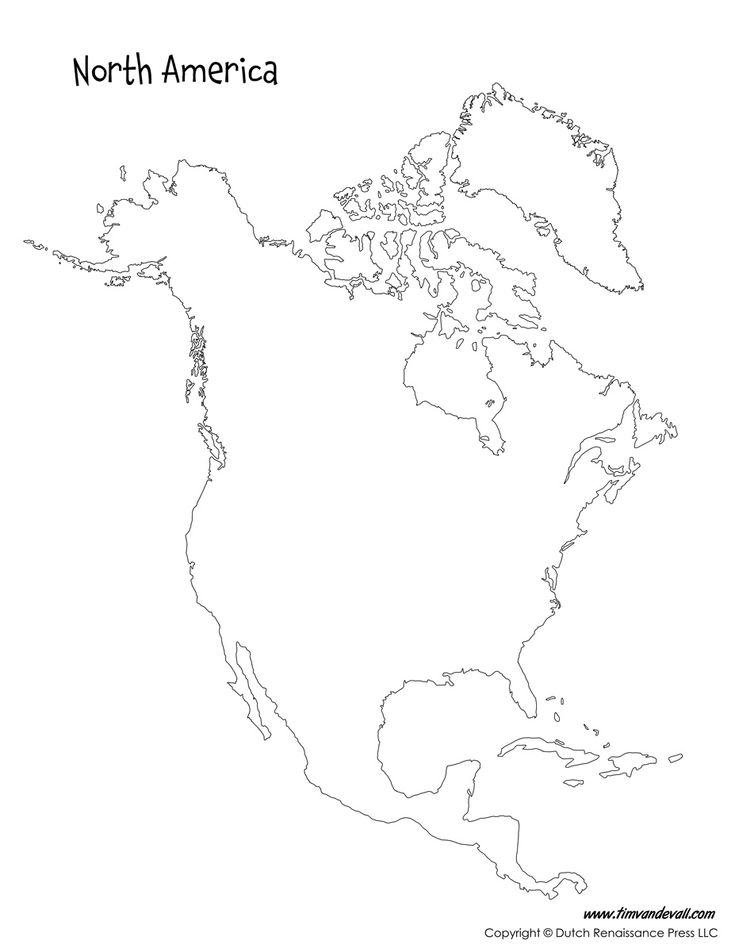 Image result for printable blank map of north america