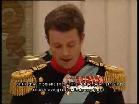 Frederik of Denmark's Wedding Speech
