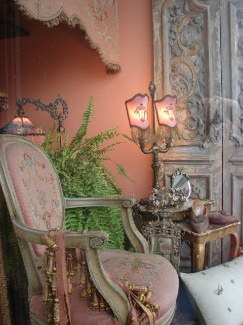 Antique French Boudoir Candelabra Lamp Sold but can do custom orders. $825.00, via Etsy.
