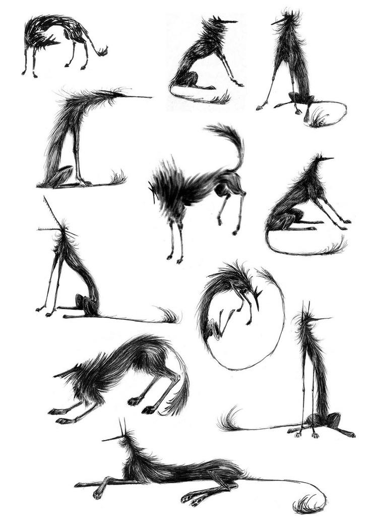 Fluffy Le Loup / #character #drawing #studies / Antonin Herveet