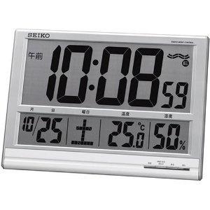 World Of Watches - SEIKO CLOCK (セイコークロック) 掛け時計 置き時計 兼用 デジタル 電波時計 温度表示 湿度表示 大型時計 SQ418S   最新の時間センター
