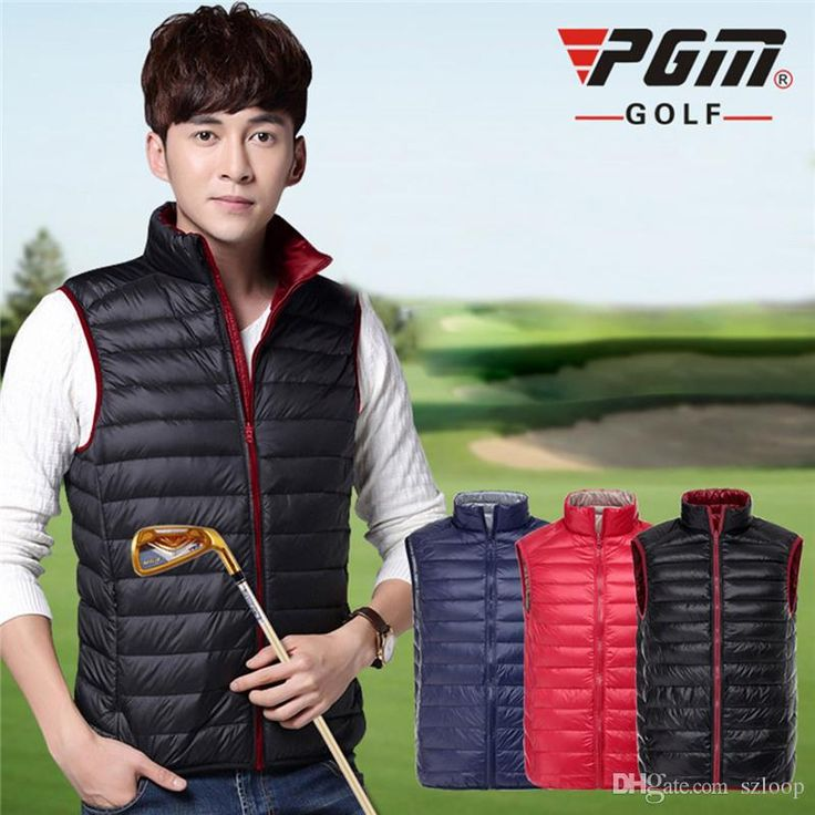 Wholesale cheap men's down jacket coat online, best use - Find best golf clothes men's down jacket coat double thin down vest males sleeveless golf down waistcoat golf autumn winter clothing 2513027 at discount prices from Chinese golf jackets supplier - szloop on DHgate.com.