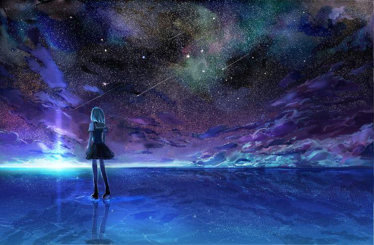 Dark Anime Scenery Wallpaper 4H6 Wallpaper
