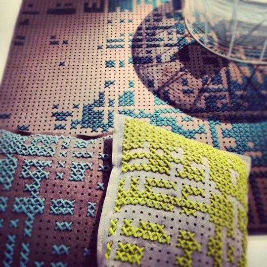 Cross Stitch-Inspired Canevas Collection by Charlotte Lancelot — I Saloni 2012