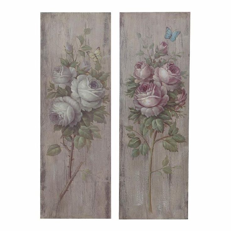 S/2 Wooden Wall Painting - Canvas - Lacquer - PAINTINGS - inart