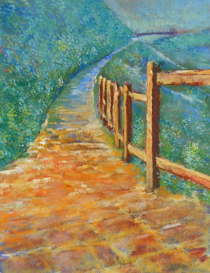 Mountain Way oil paint on hardboard. For Sale $ 20