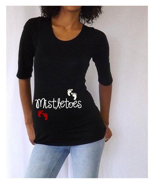 Black Christmas Maternity Tshirt/Tee  for by DJammarMaternity, $24.99