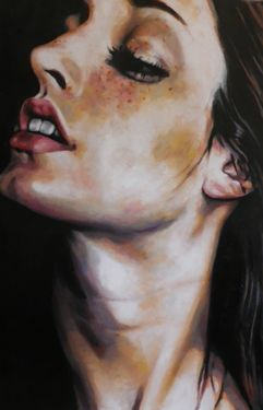 "Saatchi Online Artist thomas saliot; Painting, ""Provocative Neck"" #art"