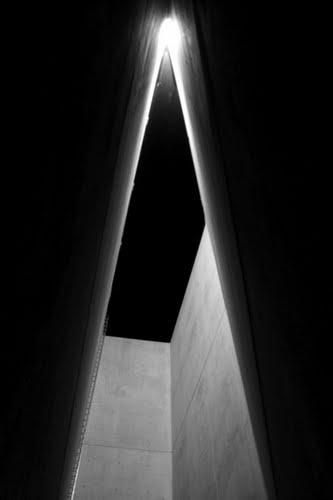 Interior of the Holocaust Tower, Jewish Museum, Berlin