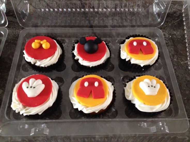Cupcakes decorados de mickey