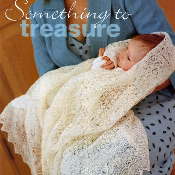 Christening Blanket Knitting Pattern : Knitting Pattern Heirloom Shetland Lace Shawl Vintage Blanket Wrap Christenin...