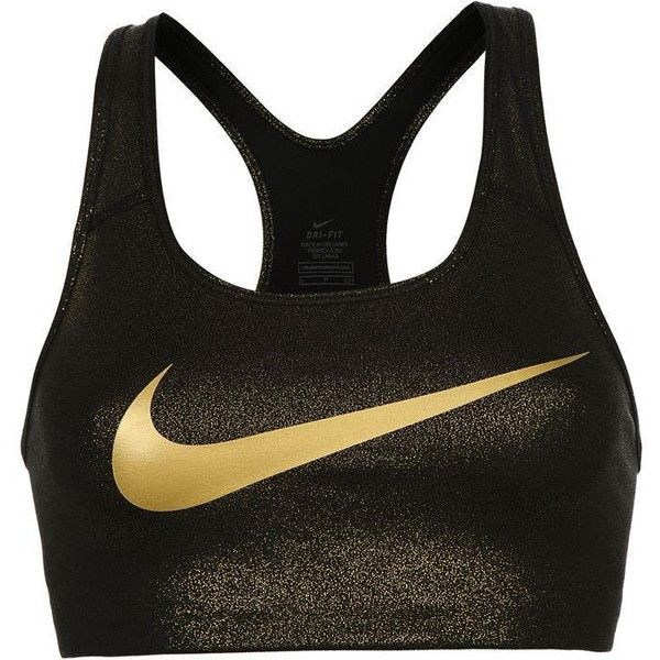 Nike Pro Gold Sports Bra Ladies ❤ liked on Polyvore featuring activewear, nike sportswear, nike and nike activewear
