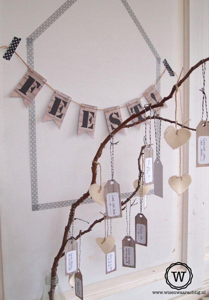 #wensboom op de #bruiloft, de gasten schrijven een wens op de #wenskaartjes…