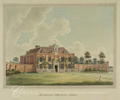 View of Dawley House, Harlington, Middlesex; Harlington is now in the London borough of Hillingdon.    c1820