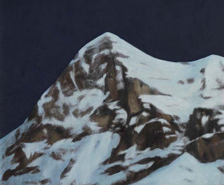 'Eiger' by Moritz Baumann Acrylic on Board : 50 x 58 cm Signed