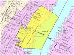 Census Bureau map of Weehawken, New Jersey