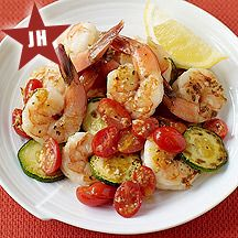 Weight Watchers Recipe      Ratings (787) Rate it4PointsPlus ValueTrack Prep time:  8 minCook time:  10 minServes: 4  Keep a bag of large frozen shrimp on hand for this quick and easy sautéed meal. The juices from the tomatoes add a wonderful flavor to the sauce.