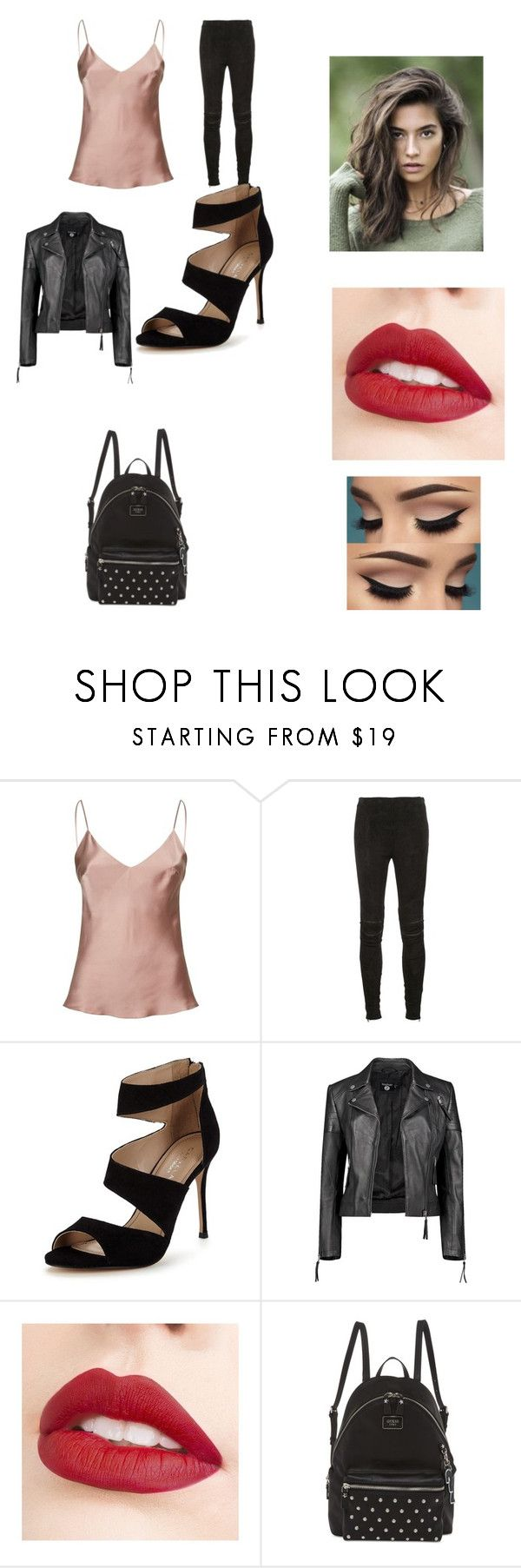 """Kalani's Look"" by fashionablequeen368 on Polyvore featuring Gilda & Pearl, Yves Saint Laurent, Carvela, Boohoo, Jouer and GUESS"