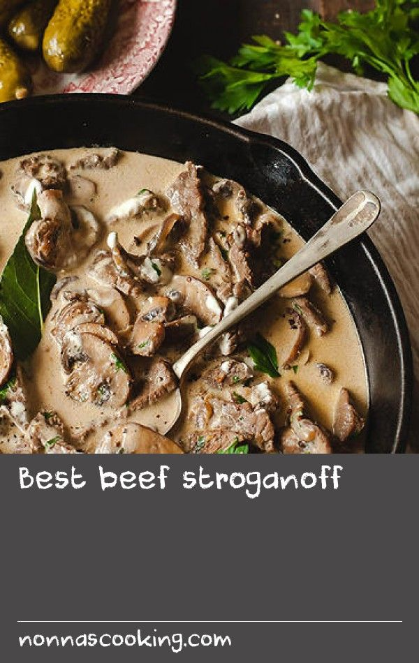 Best beef stroganoff | Beef stroganoff to a Russian is like a carbonara to an Italian. Something we just whip up without a recipe in little time using very few ingredients. The outcome is always the same – immediate bliss followed by a food coma. And if you follow a few simple rules, you will make the best stroganoff around. First off, beef quality is paramount; avoid stewing beef and buy the best steak you can afford (you only need 500 grams). If steak is too expensive, buy more affordable…