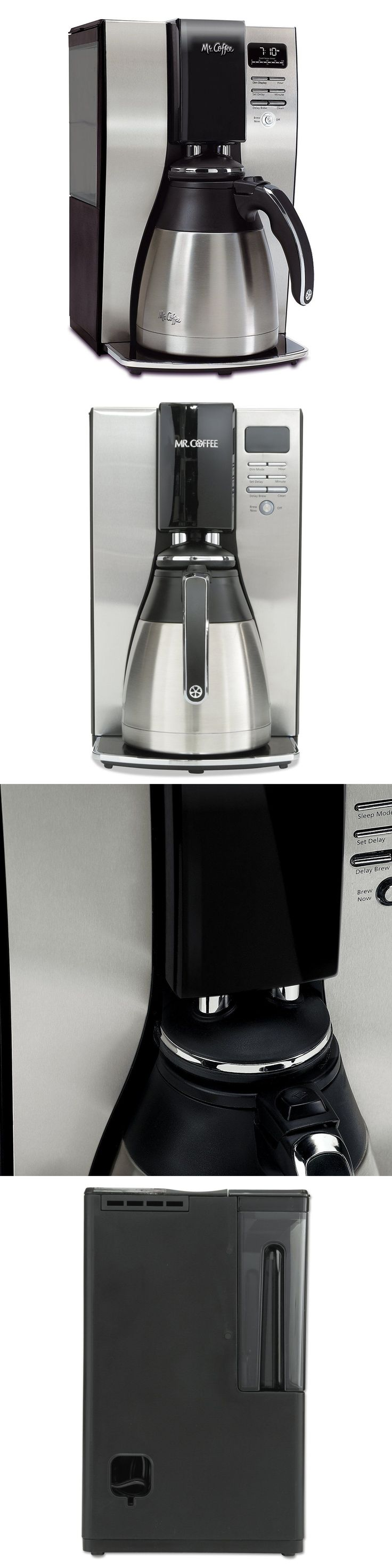 Small Kitchen Appliances: Mr. Coffee - 10-Cup Coffeemaker - Stainless-Steel Black -> BUY IT NOW ONLY: $48.99 on eBay!