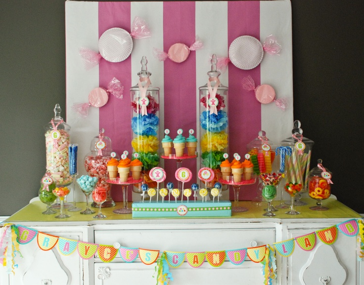 Candyland Birthday Table Setup