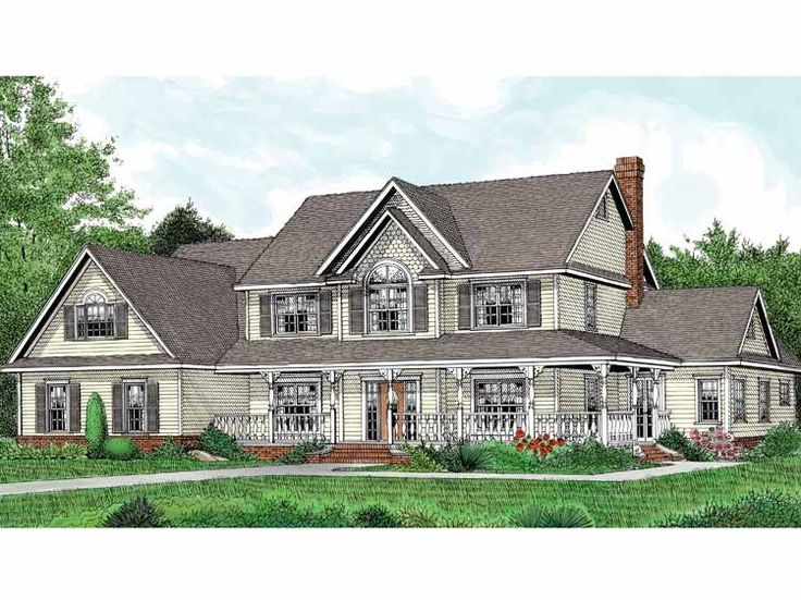 Best House Plans Images On Pinterest Farmhouse Style White