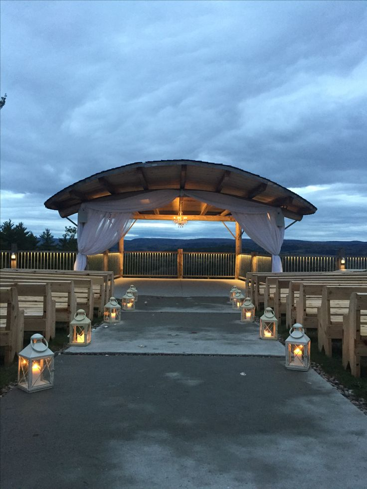 Where the ceremony takes place   #weddingceremony #lebelvedere #outdoorvenue #firstdance