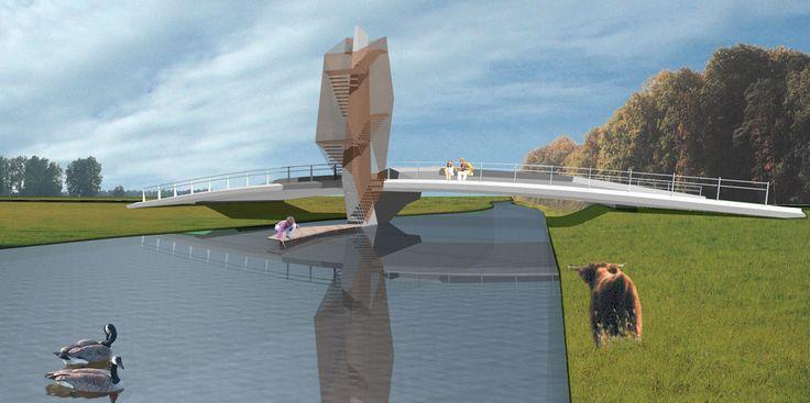 Ontwerp voor een nieuwe brug over de Donge, i.o.v. Consortium Koolhoven (2008)