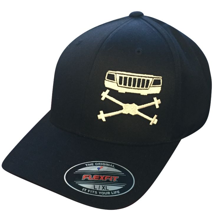 Featuring the Grille & Axles YJ Edition Logo. This is a must have hat to add to your collection. Only available here in our online store. Flexfit Structured Twill Cap. Fitted, six panel, mid-profile c