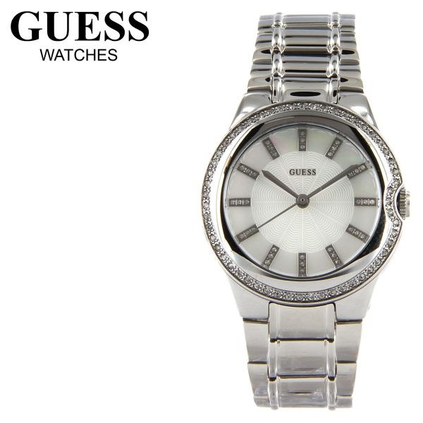 GUESS Silver Mother of Pearl Dial Ladies Watch