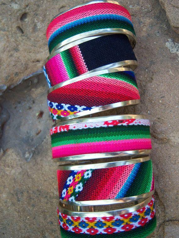 Peruvian Colorful Cuff Bracelet by SumaqOke on Etsy, $15.00