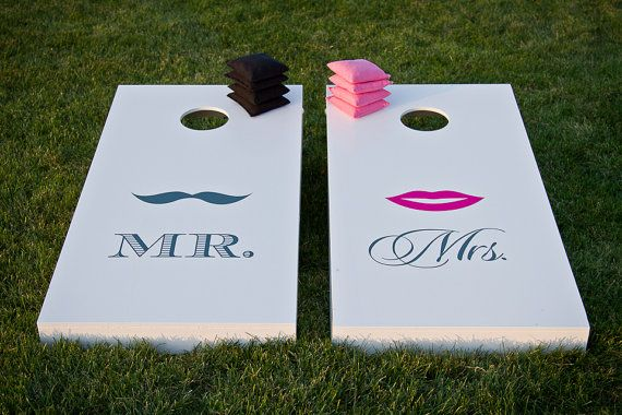 Mr. & Ms. Wedding Cornhole Set = will be making this for Maighen & Heath