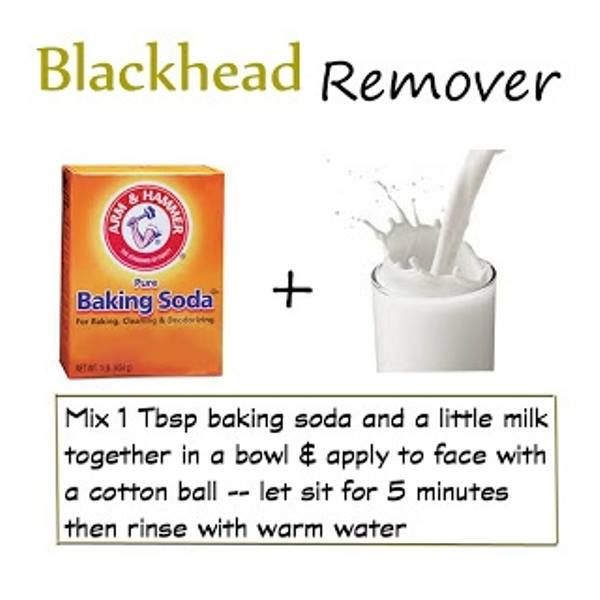 A natural way to get rid of blackheads  Use coconut milk or almond milk. Gently massage the solution after 5 minutes being applied. You can do this every night before going to bed until you see the results you want.