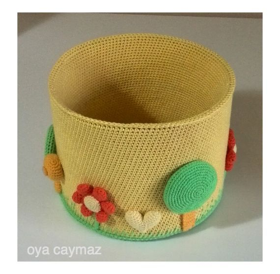 crochet basket , örgü tığ işi sepet ,крючком корзины ,canasta de ganchillo ,crochet panier