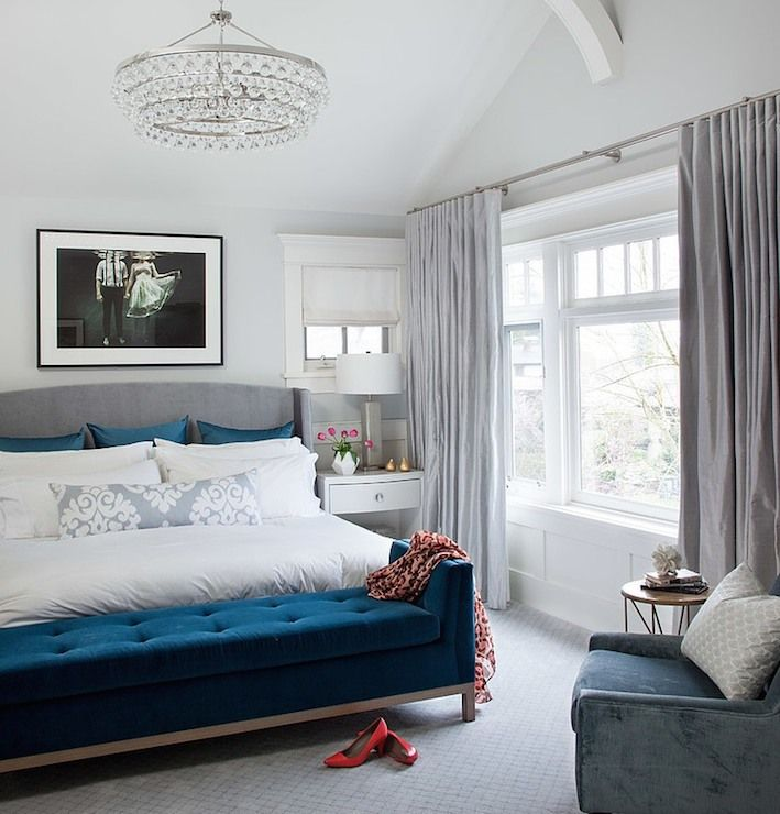 Bling Chandelier Large Gray Bedroomblue