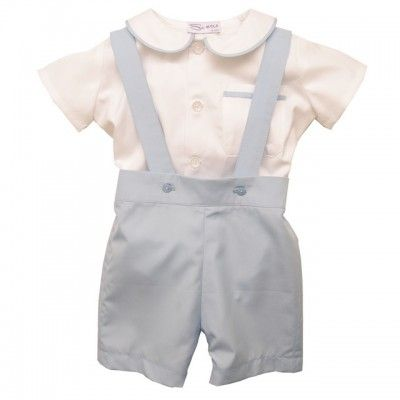 Sue Hill James shirt and romper shorts set