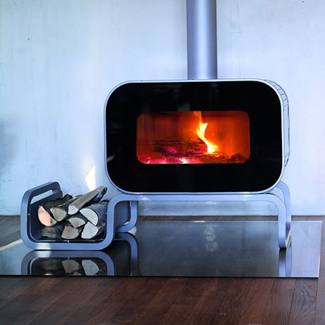 Modern Wood Burning Stove.