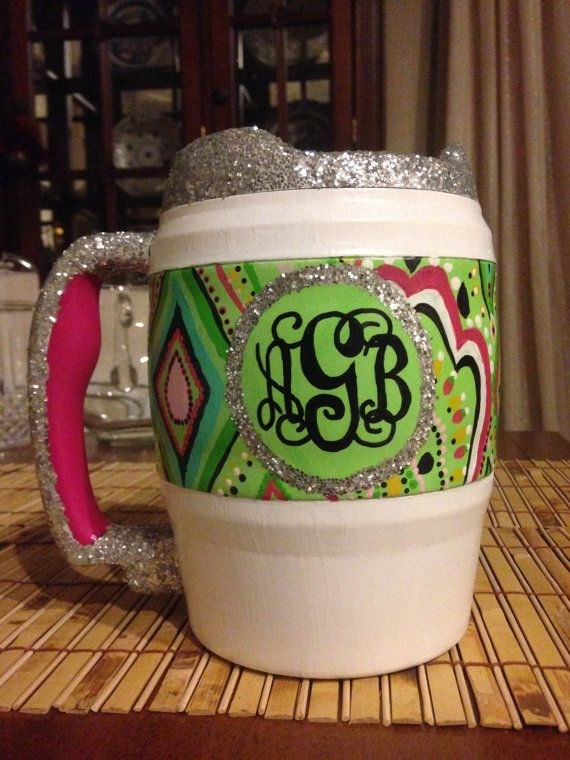 Hand Painted 52 oz. Bubba Keg Ohhh Lilly's Crown Jewel....me likey!