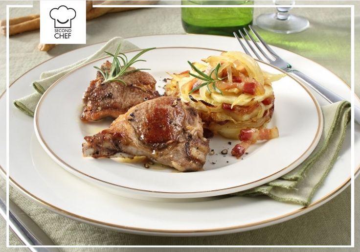 Vuoi fare un figurone a cena? Prepara le Costelette d'agnello + Tortino di patate, cipolla e bacon di #Second_Chef. Successo assicurato! La #ricetta la trovi qui http://rebrand.ly/costolettedagnello #incucinaconsecondchef #cucinare #cucina #eat #ricette #cucinaitaliana