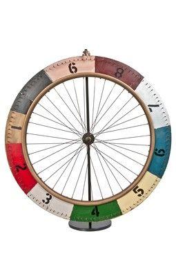 Vintage Handmade Carnival Gaming Bicycle Wheel