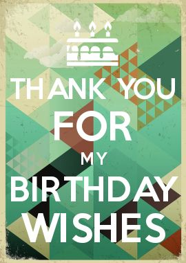 11 best facebook birthday post images on pinterest happy b day thank you for my birthday wishes m4hsunfo