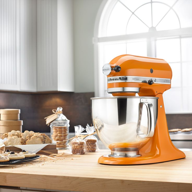 KitchenAid KSM150PSTG Tangerine 5-quart Artisan Tilt-Head Stand Mixer with  $50 Rebate